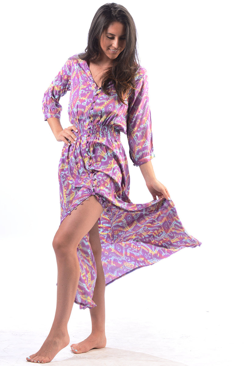 Kelsey Dress / Berry Ikat