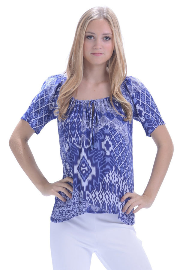 Shannon Top / Marine Crinkle