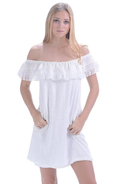 Kauai Dress / White