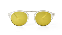 Bisous Sunglasses / The Rumrunner in Frosted Yellow
