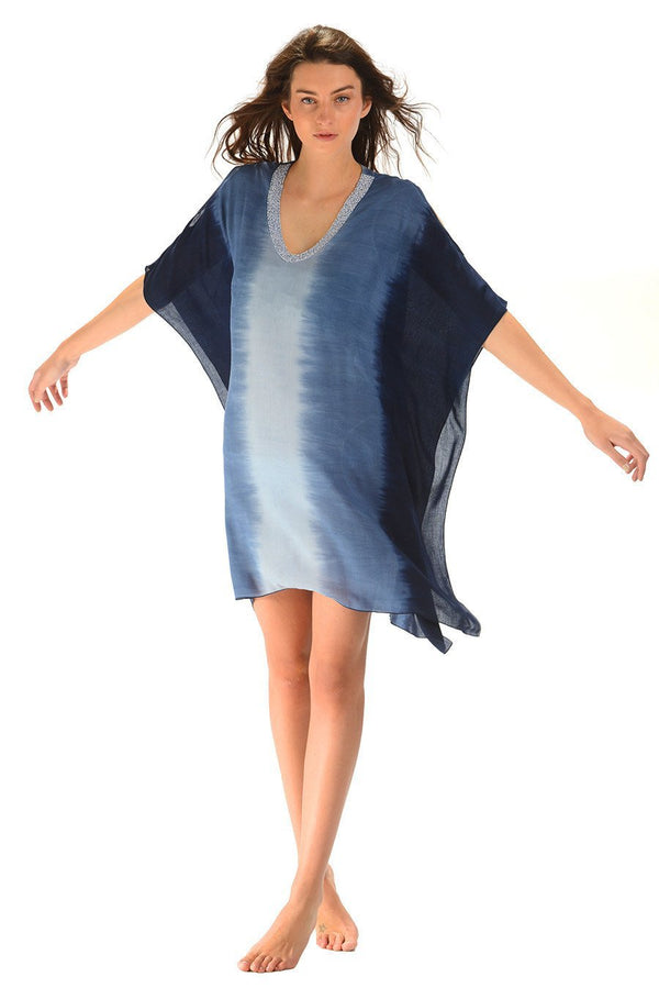 Goddess Kaftan / Midnight Blue Ombre - Walker&Wade  - 1