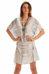 Goddess Kaftan / Dove Tie Dye (Short) - Walker&Wade