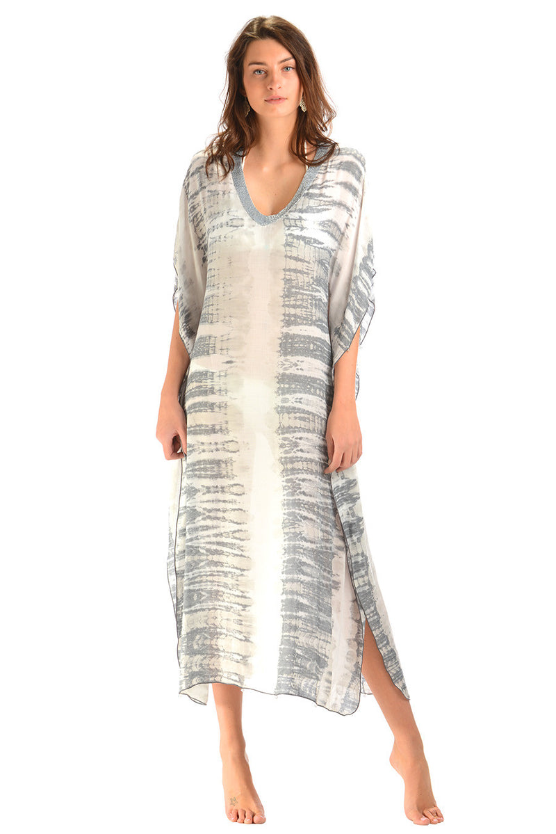 Goddess Kaftan / Dove Tie Dye (Long) - Walker&Wade  - 1