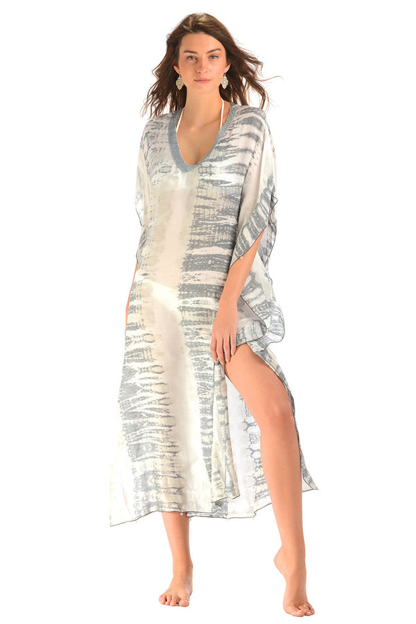 Goddess Kaftan / Dove Tie Dye (Long) - Walker&Wade  - 2