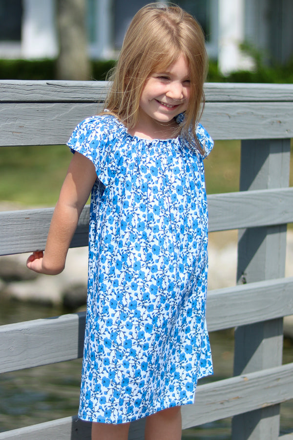 Kid's Zoe Dress / Blue Poppy