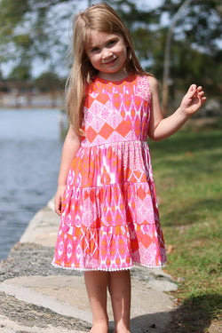 Girls Bella Dress / Flamingo