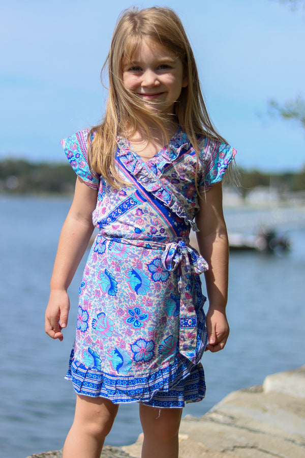 Kid's Voyager Dress / Aqua Rose