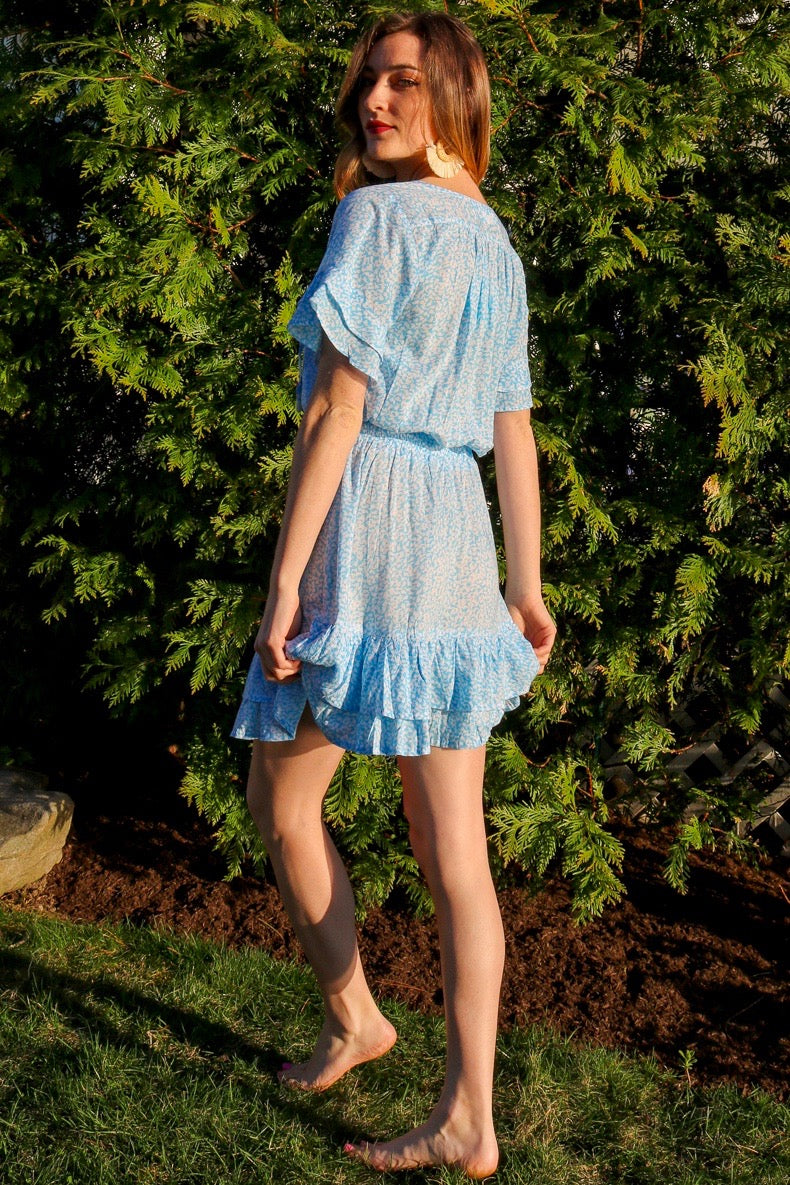Courtney Dress / Sky Blue