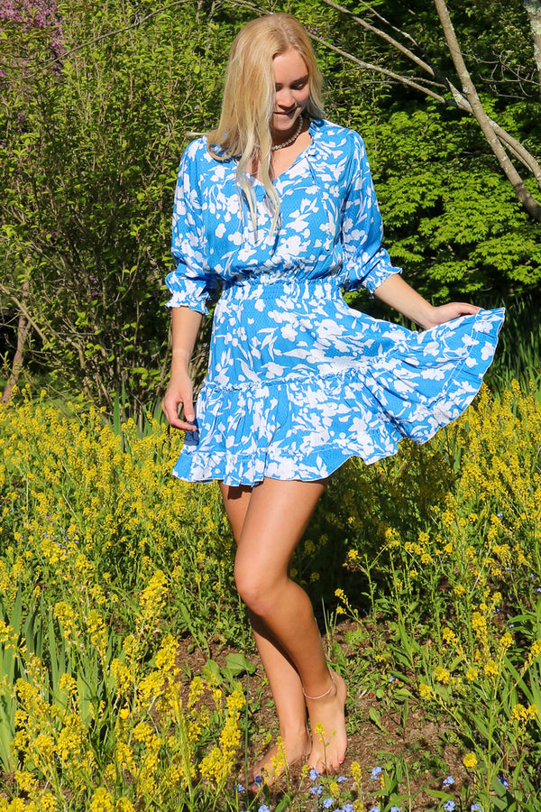 Ibiza Dress / Cornflower Blue