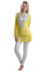 Indian Silk Tunic / Jaipur - Walker&Wade  - 2