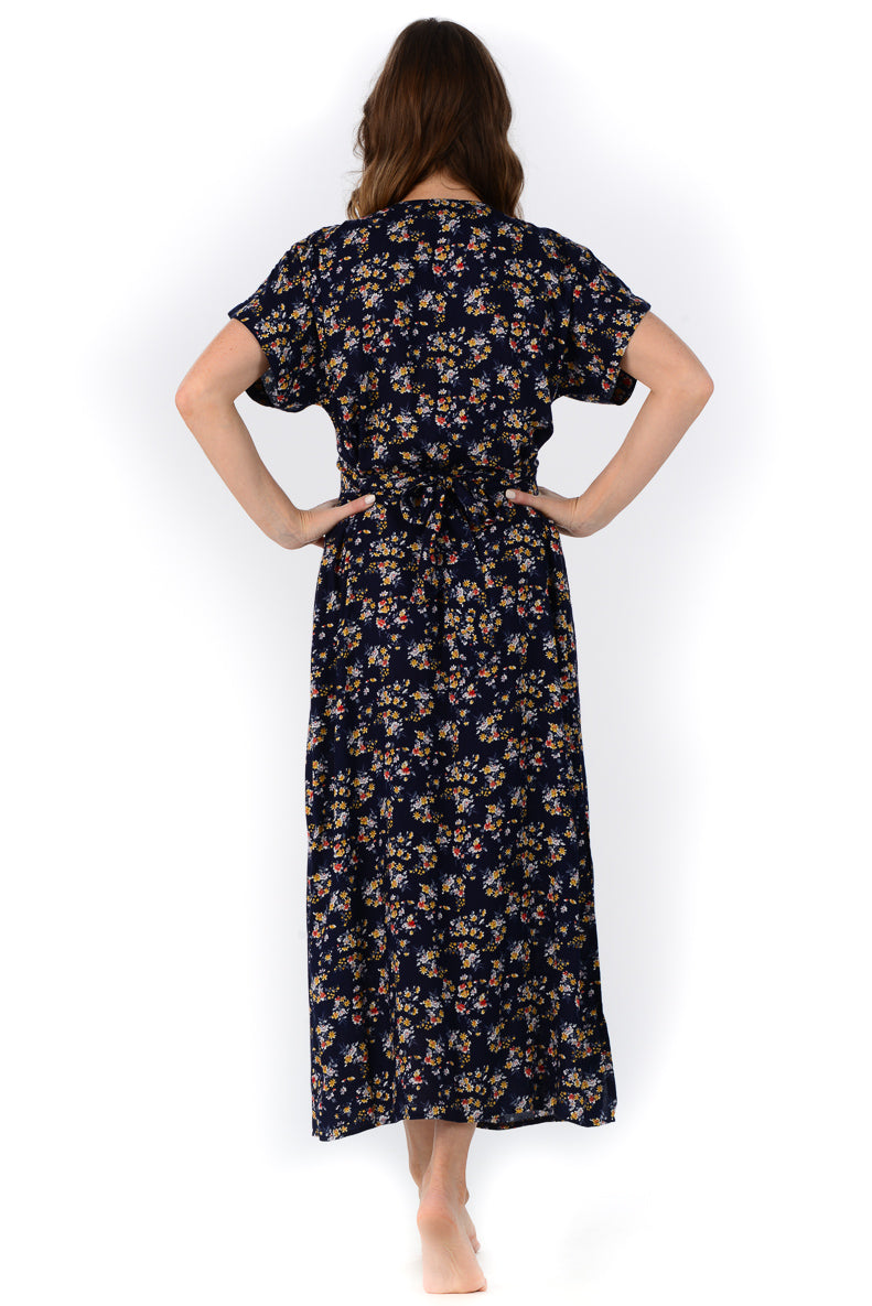Charlotte Dress / Navy Wildflower