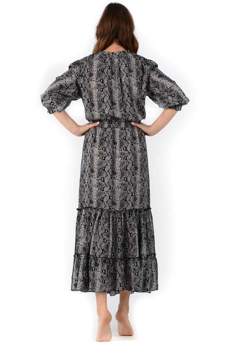 Eliza Dress / Black Snake