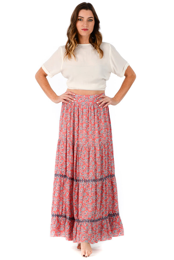 Brooke Skirt / Clay Floral