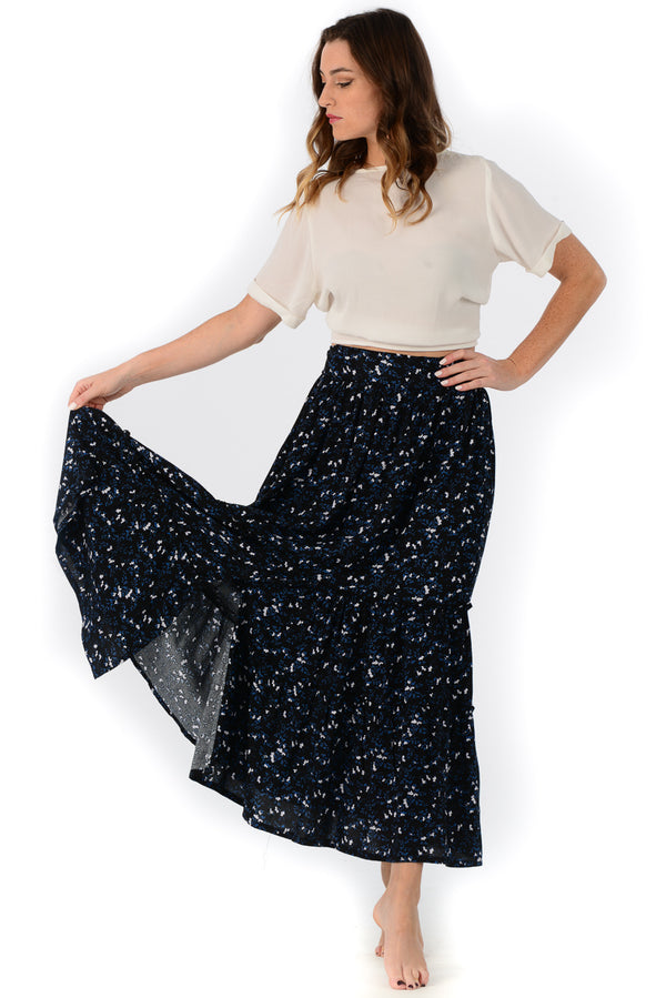 Selena Skirt / Black Wildflower
