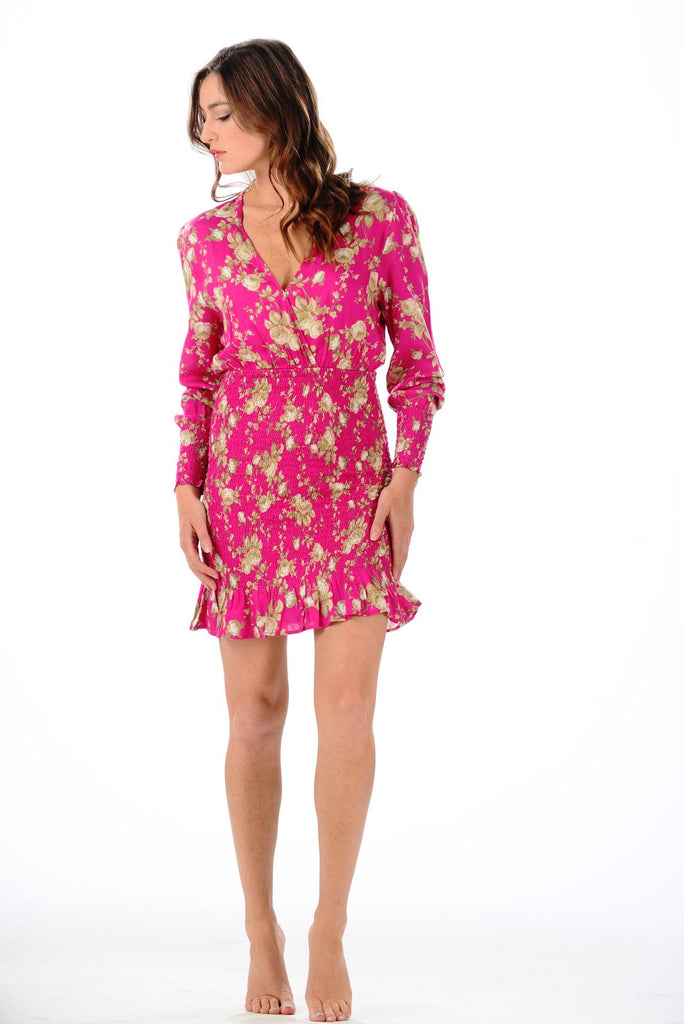 Downtown Dress / Fuchsia Floral