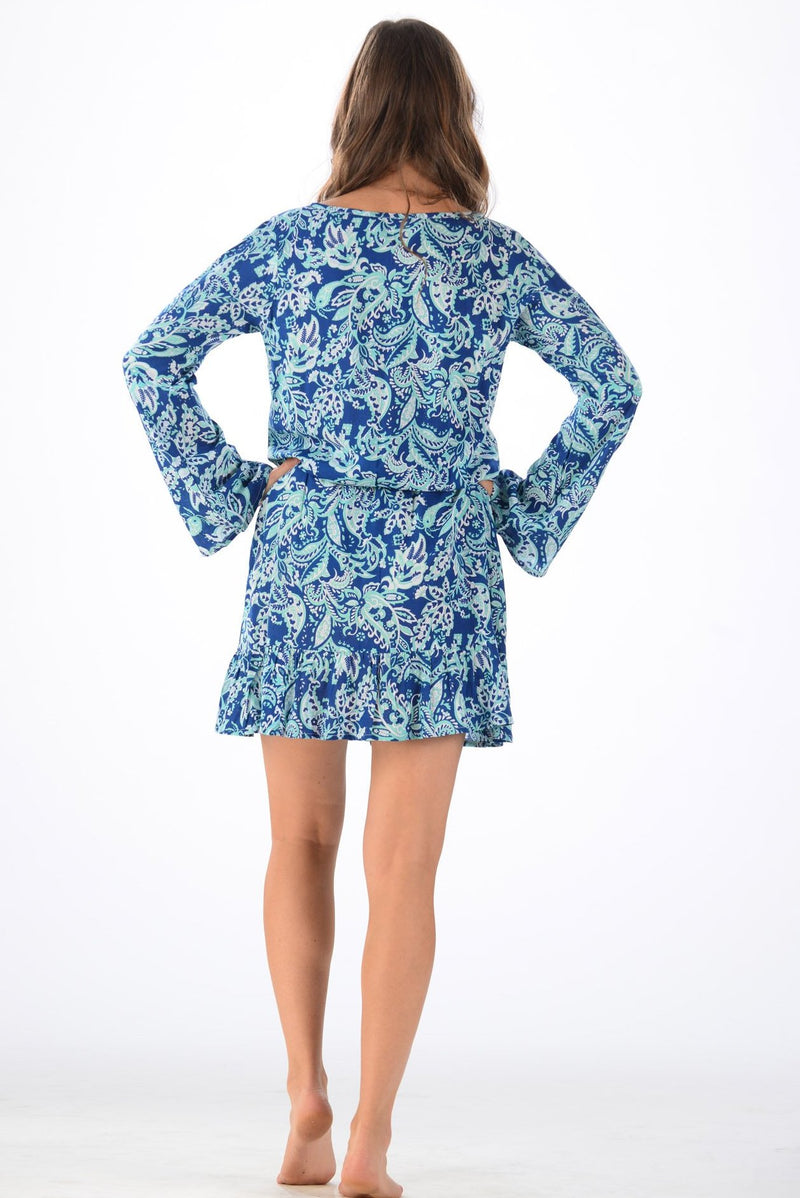 Za Dress / Navy-Mint