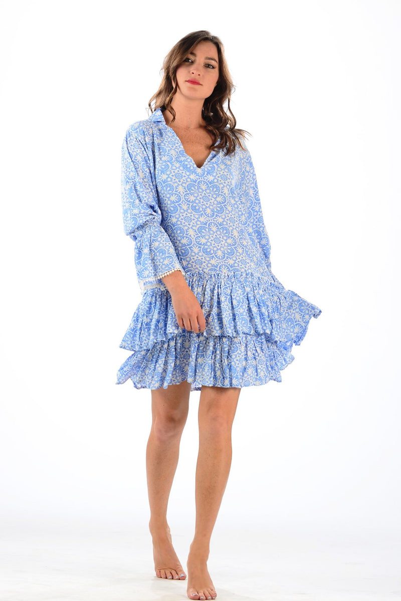 Travel Dress / Periwinkle Medallion