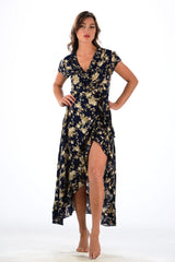 Voyager Dress / Navy&Tan Floral