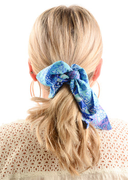 Hair Scrunchie / Lavender Floral
