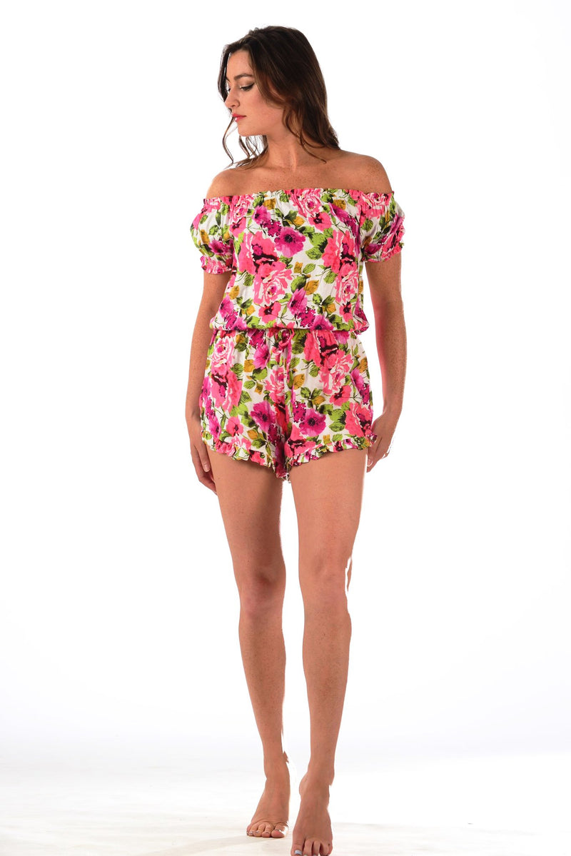 Watch Hill Romper / Hot Pink Floral
