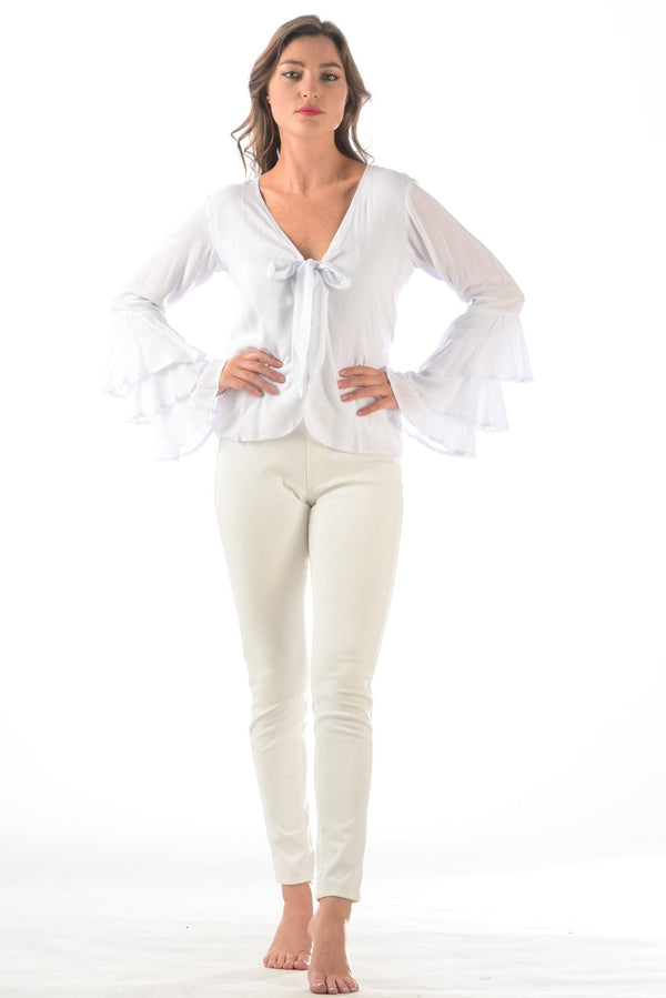Jet Set Top / White Rayon