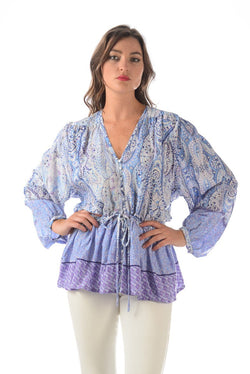 Lulu Top / Blue-Lavender