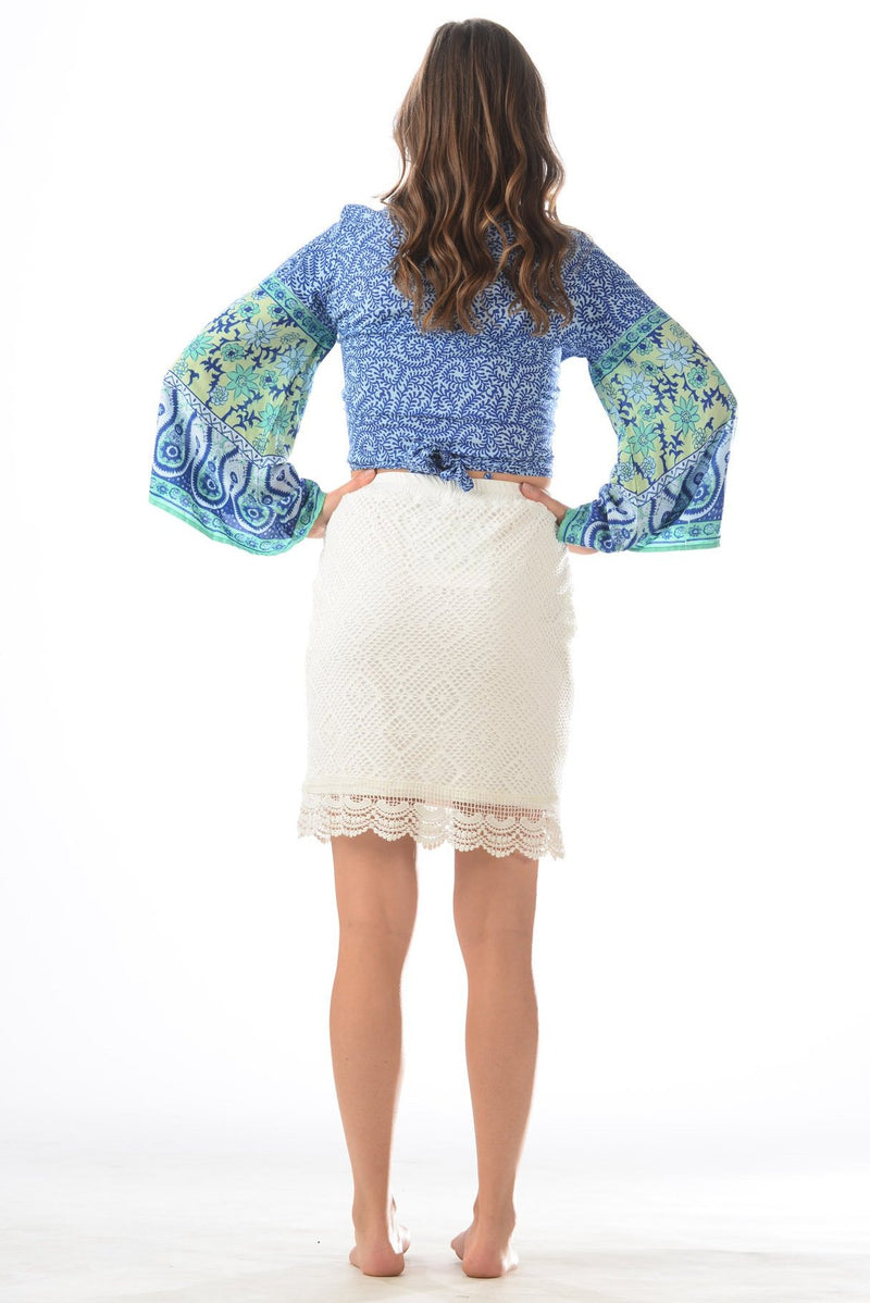 Tricia Skirt / White Lace