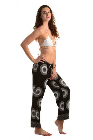 Lounge Pants / Black Mandala