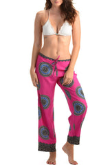 Beach Lounge Pants / Mandala Magenta - Walker&Wade