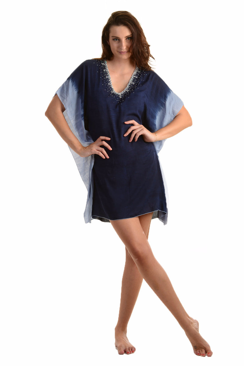 Goddess Kaftan / Starry Night Navy - Walker&Wade  - 1
