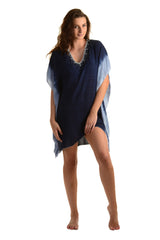 Goddess Kaftan / Starry Night Navy - Walker&Wade  - 2
