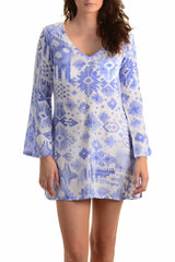 Meggy Dress / Periwinkle Ikat - Walker&Wade  - 1