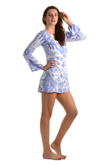 Meggy Dress / Periwinkle Ikat - Walker&Wade  - 2