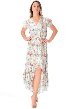 Tia Dress / Ivory Floral