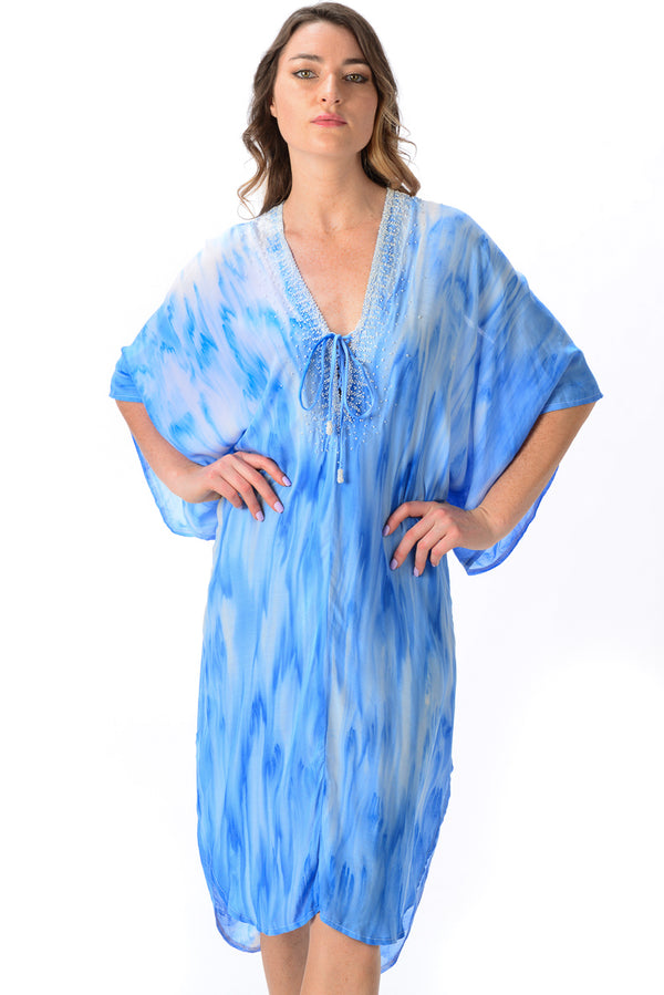 Mallorca Kaftan / Wave Blue
