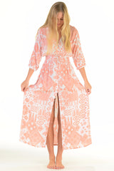 Kelsey Dress / Coral Ikat