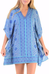Goddess Kaftan / Maui Blue (short)