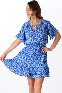 Courtney Dress / Cobalt Floral