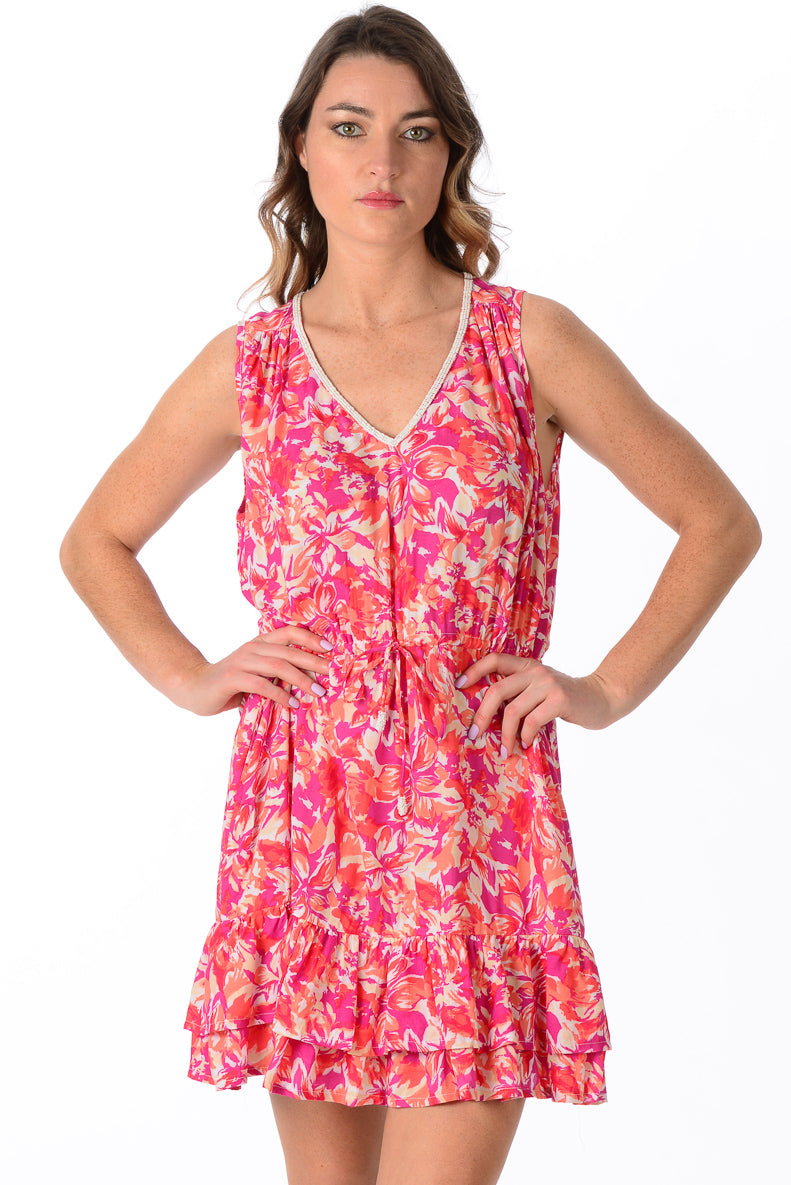 Hannah Dress / Fuchsia Floral