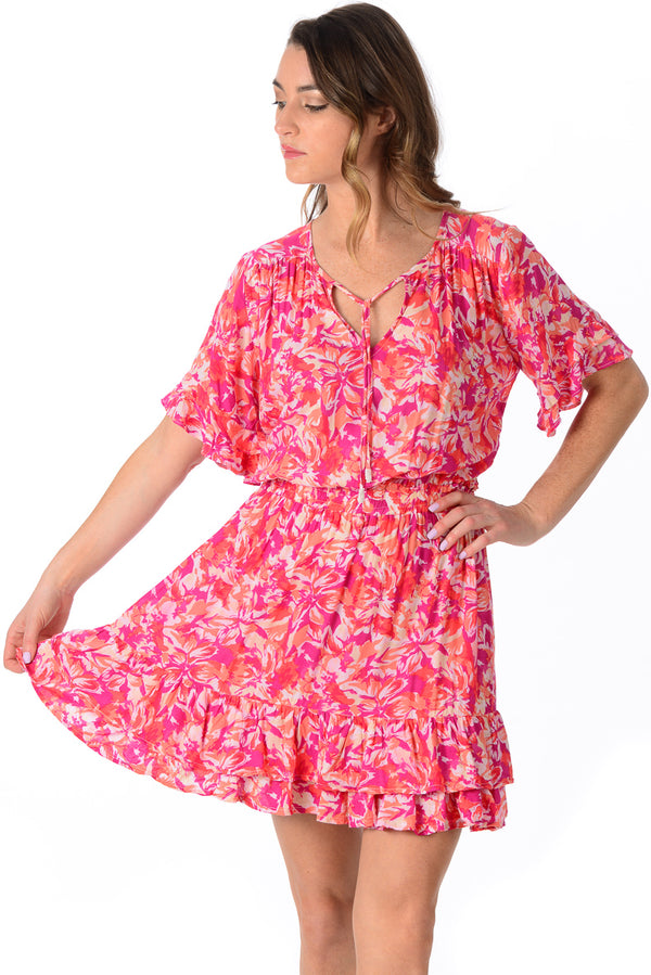 Courtney Dress / Fuchsia Floral