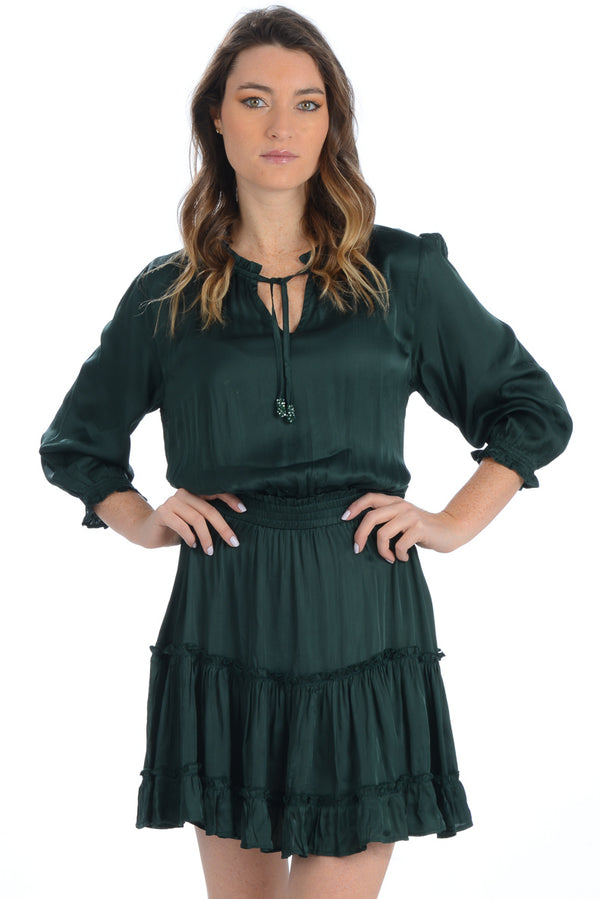 Ibiza Dress - Emerald Silk