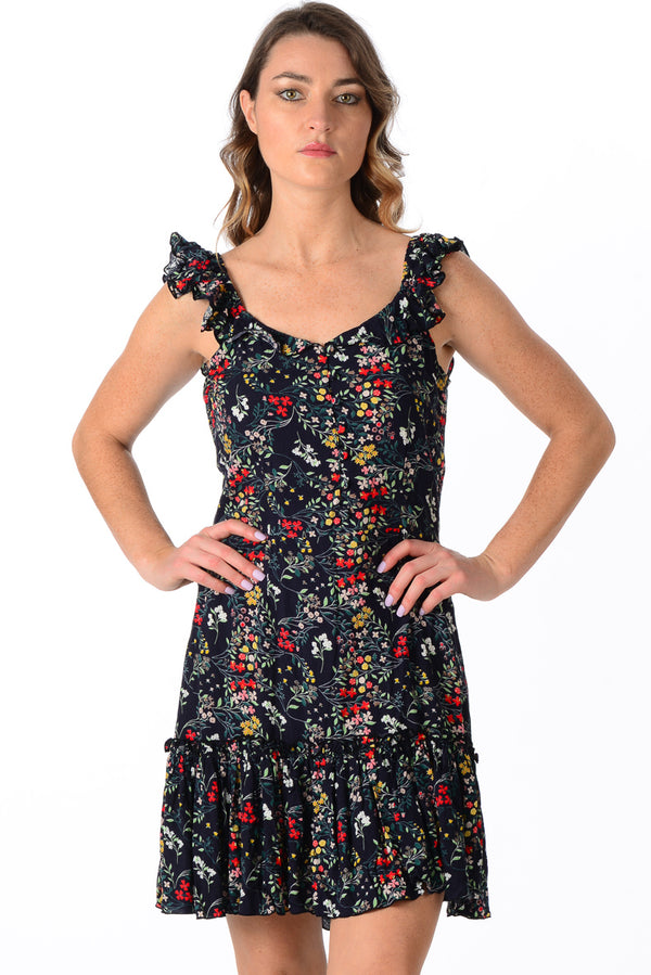 Jessie Dress / Black Floral