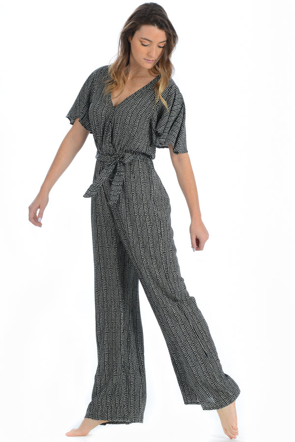 Virginia Jumpsuit / Black Geo