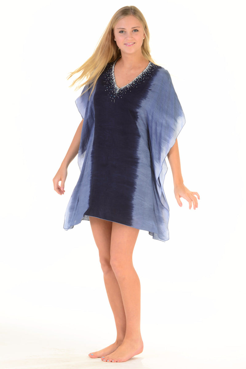 Goddess Kaftan / Starry Night Navy