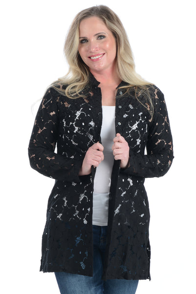 Bali Beach Blazer / Black Lace