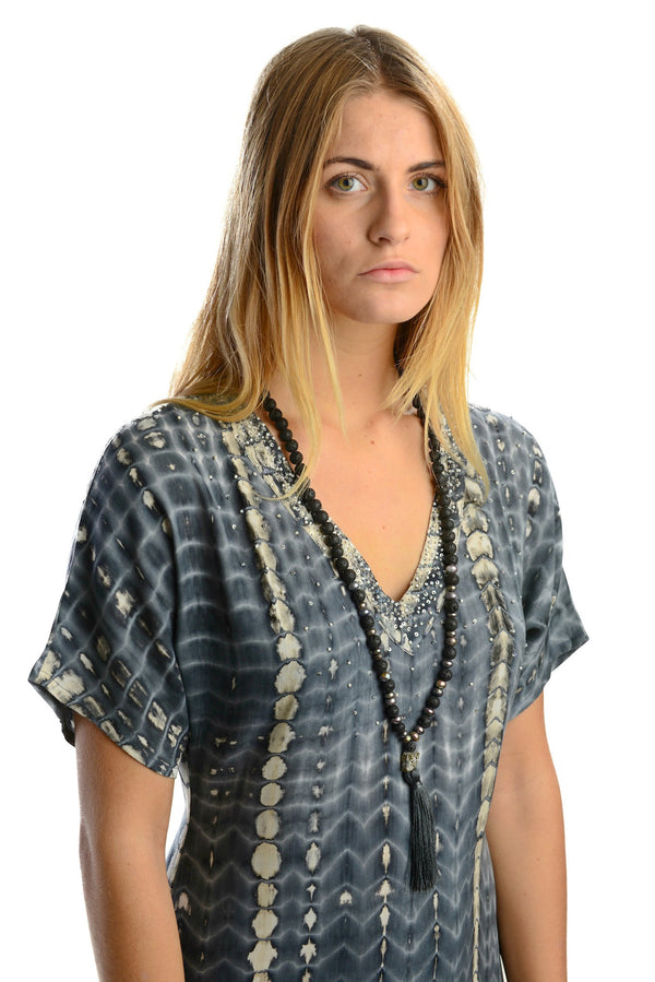 Uluwatu Dress / Charcoal - Walker&Wade  - 2