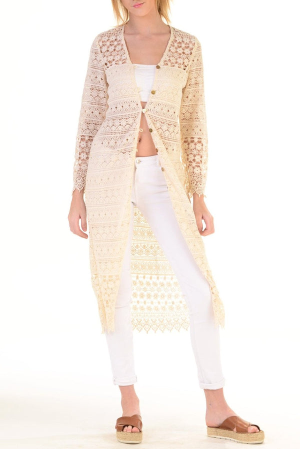 Layla Duster / Natural Lace