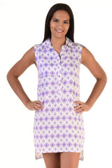 Day Tripper Dress / Lavender Ikat