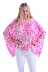 Paradise Top / Hot Pink Ikat