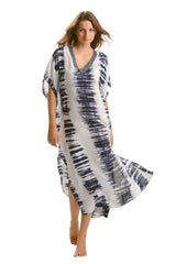 Goddess Kaftan / Navy Tie Dye (Long) - Walker&Wade